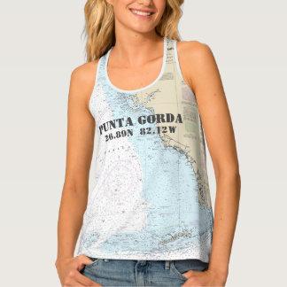 Camiseta De Tirantes Latitud y longitud de Punta Gorda FL náuticas