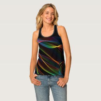 Camiseta De Tirantes líneas lisas el tanque vivo del color