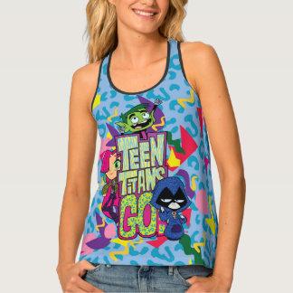 """Camiseta De Tirantes ¡Los titanes adolescentes van! De los """"logotipo"""