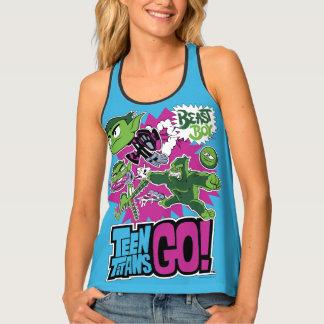 Camiseta De Tirantes ¡Los titanes adolescentes van! muchacho