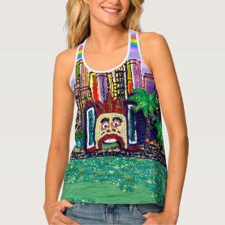 Camiseta De Tirantes Luna Park Sydney por la lentejuela soña el estudio