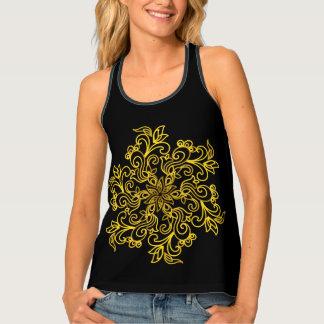 Camiseta De Tirantes Mandala de oro magnífica