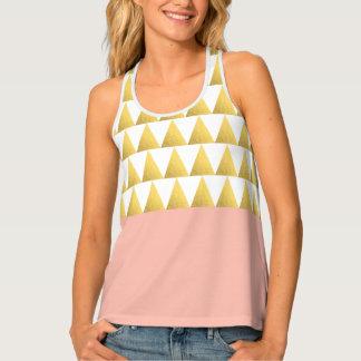 Camiseta De Tirantes melocotón en colores pastel elegante, falso modelo