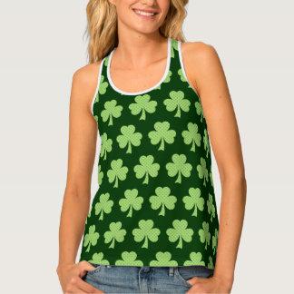 Camiseta De Tirantes Modelo del día del St Patricks de los lunares del