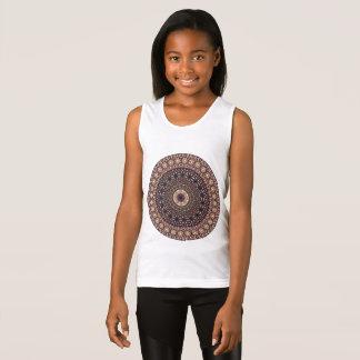 Camiseta De Tirantes Modelo floral étnico abstracto colorido de la