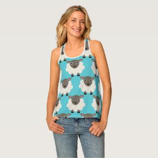 Camiseta De Tirantes Modelo inconsútil de las ovejas