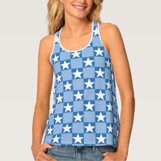 Camiseta De Tirantes Modelo lindo del tablero de damas de la estrella