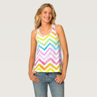 Camiseta De Tirantes Modelos y texturas pintados a mano de la acuarela