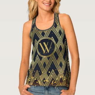 Camiseta De Tirantes Monograma geométrico atractivo del modelo del art