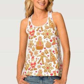 Camiseta De Tirantes Muñeco de nieve de Rudolph del árbol de