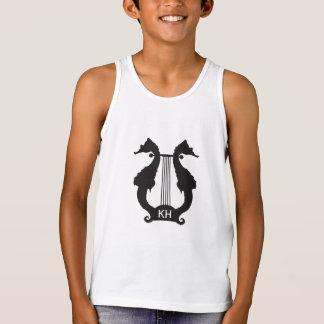 Camiseta De Tirantes Música del seahorse del monograma