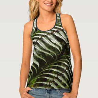 Camiseta De Tirantes Naturaleza verde oscuro de las frondas II del