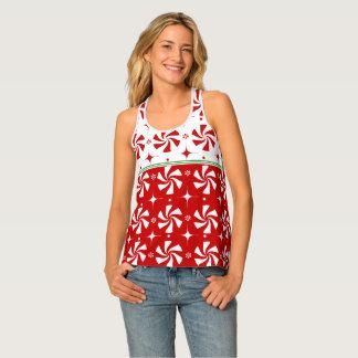 Camiseta De Tirantes Navidad del caramelo de hierbabuena