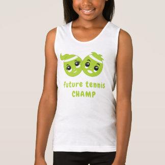 Camiseta De Tirantes Niños lindos del dibujo animado de las pelotas de