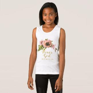 Camiseta De Tirantes Nombre rosado ID456 del florista del Swag del
