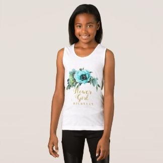 Camiseta De Tirantes Nombre verde azulado ID456 del florista del Swag