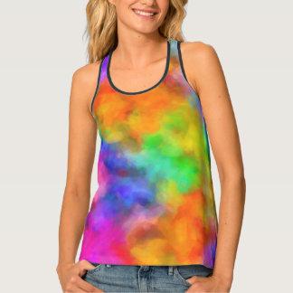 Camiseta De Tirantes Nubes del arco iris