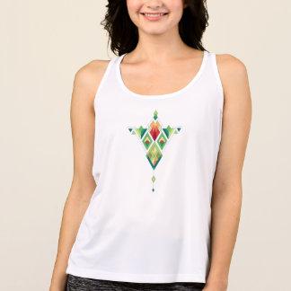 Camiseta De Tirantes Ornamento azteca tribal étnico del vintage