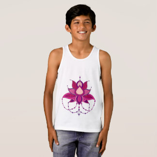 Camiseta De Tirantes Ornamento étnico de la mandala del loto de la flor