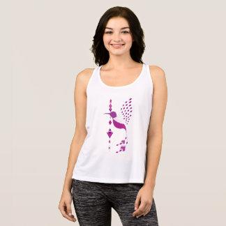 Camiseta De Tirantes Pájaro azteca tribal étnico del vintage