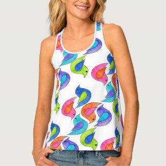 Camiseta De Tirantes Pájaros coloridos