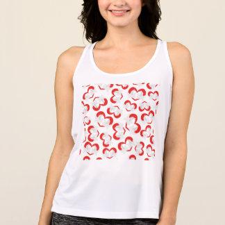 Camiseta De Tirantes Palomas de paz del ejemplo del modelo con el