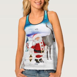 Camiseta De Tirantes Papá Noel divertido