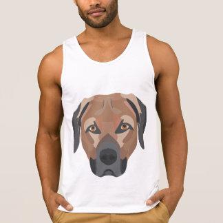 Camiseta De Tirantes Perro Brown Labrador del ilustracion
