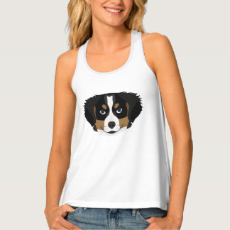 Camiseta De Tirantes Perro de montaña de Bernese del ilustracion
