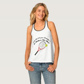 Camiseta De Tirantes Porqué lo hace el tenis del amor de I. Me hace