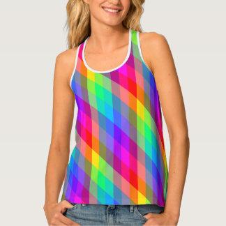 Camiseta De Tirantes Prisma vibrante del arco iris