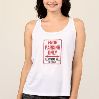 Camiseta De Tirantes Rana que parquea todos los otras sapo