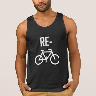 Camiseta De Tirantes Recicle la bici de la bicicleta