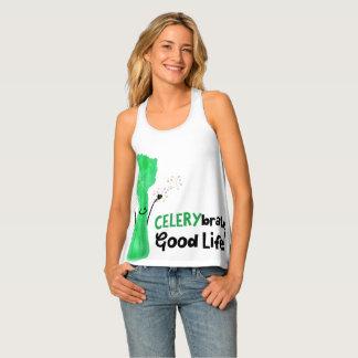 Camiseta De Tirantes Retruécano positivo del apio - buena vida de