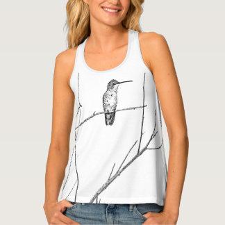 Camiseta De Tirantes Simplemente un colibrí en un palillo