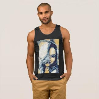 Camiseta De Tirantes Sirena urbana con las olas oceánicas para el pelo