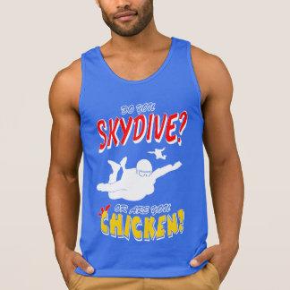 Camiseta De Tirantes ¿Skydive o pollo? (blanco)