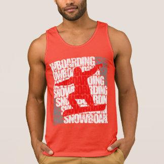 Camiseta De Tirantes Snowboard #1 (blanca)