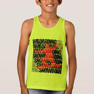 Camiseta De Tirantes Snowboard #1 (negro)