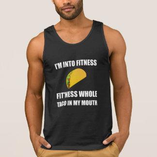 Camiseta De Tirantes Taco de la aptitud en mi boca divertida