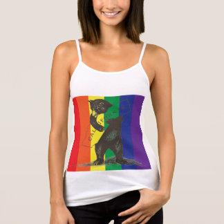 Camiseta De Tirantes Te amo California--Arco iris