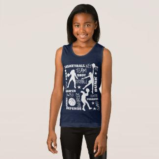 Camiseta De Tirantes Tipografía de SportsTerminology del baloncesto de