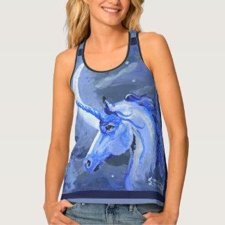 Camiseta De Tirantes Unicornio de la luna lunar