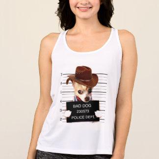 Camiseta De Tirantes vaquero de la chihuahua - perro del sheriff