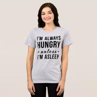 Camiseta de Tumblr tengo siempre hambre a menos