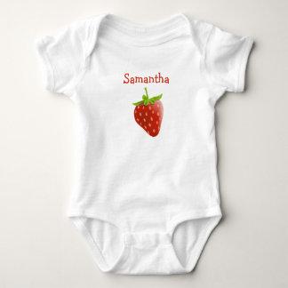 Camiseta de una pieza personalizada del bebé de la