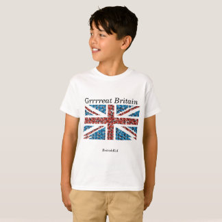 Camiseta de Union Jack del muchacho