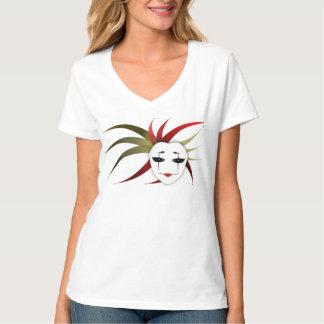 Camiseta de V-Neck de señora Joker's de Mask