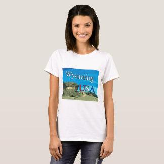 Camiseta de Wyoming de la mujer