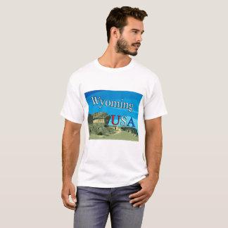 Camiseta de Wyoming de los hombres